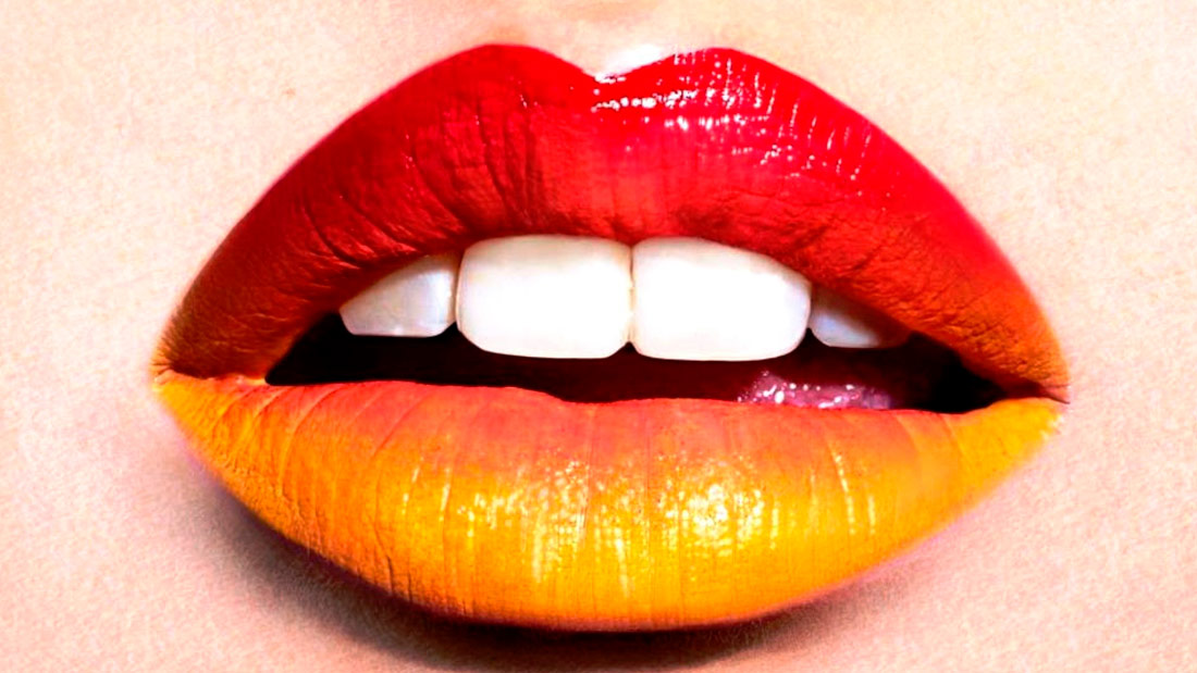 Labios bicolor: Fucsia + naranja